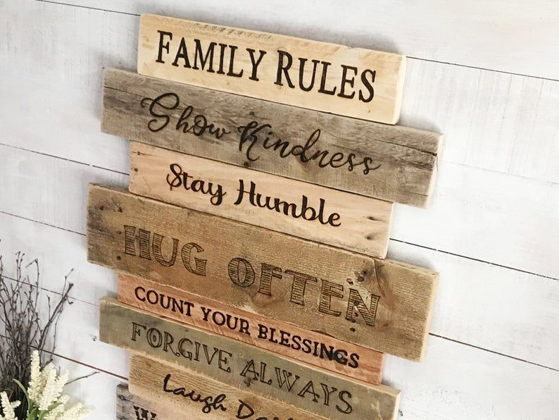 House Rules Sign Our Family Rules Decor Family Values Art Etsy In 2020 House Rules Sign Family Rules Sign Family Rules