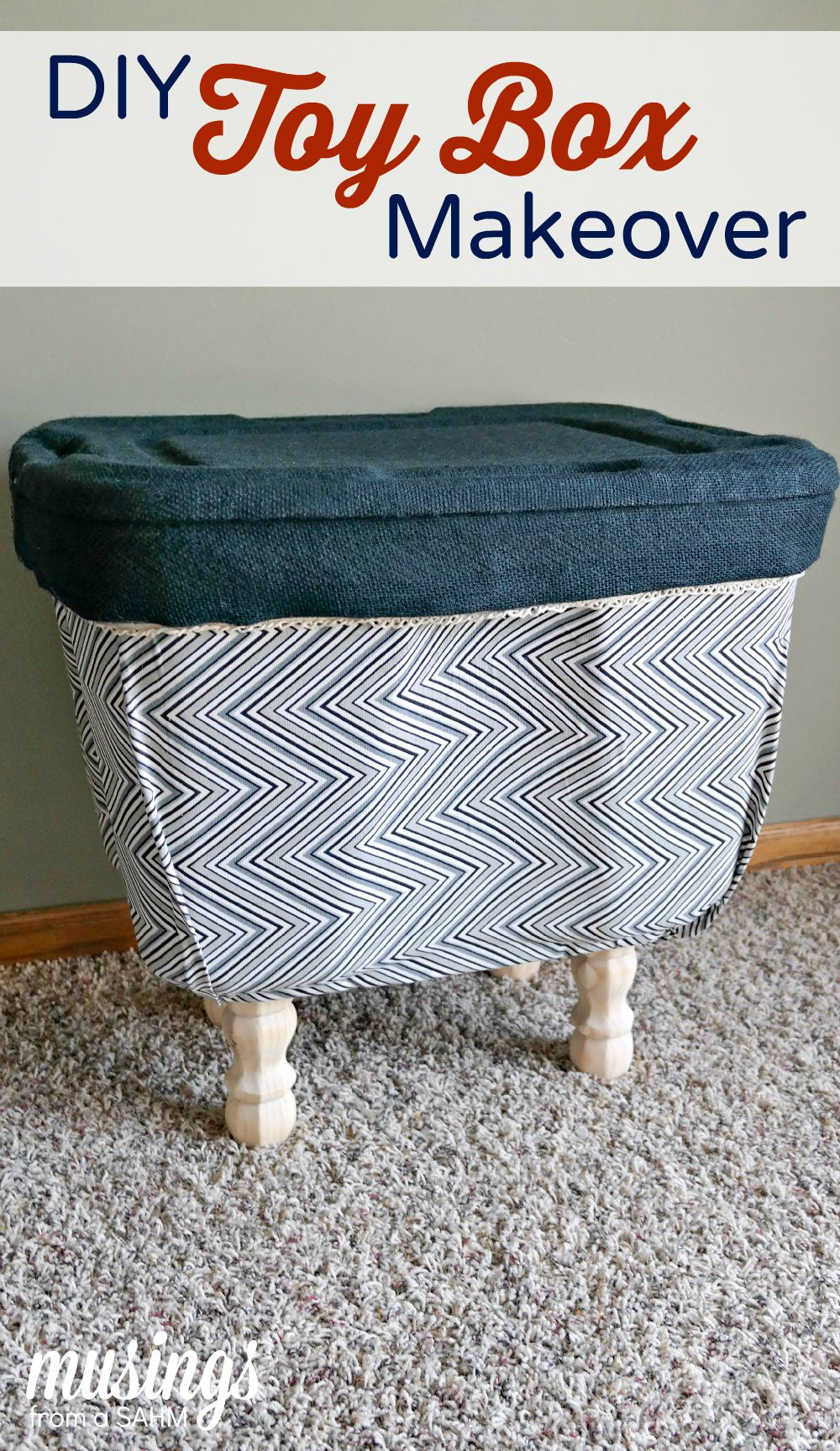 Charming DIY Toy Box Makeover   Living Well Mom