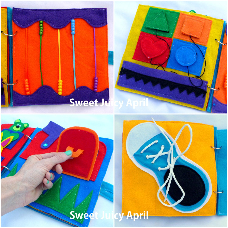 personalized customized felt quiet activity book for children