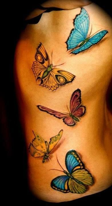 20 Ideas Of Small Tattoos On Hip - Yo Tattoo   Seductive Butterfly Tattoos