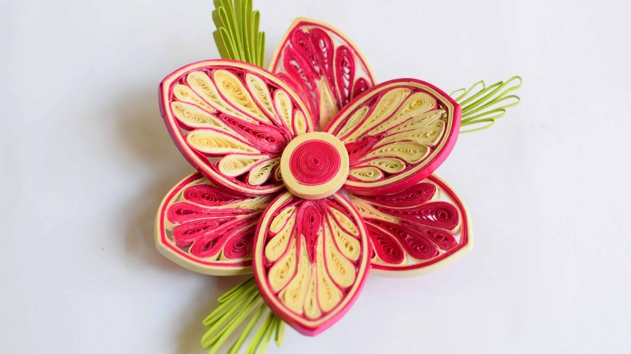 3d Quilled Flower Quilled Flower Advance Quilling Quilling