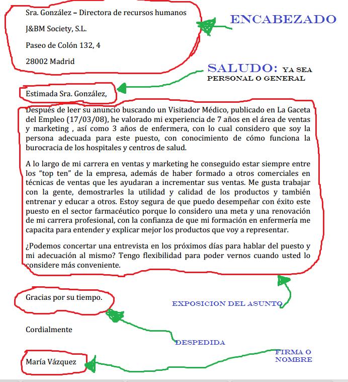 carta de presentacion - Google Search | Trabajo y Comunidad ...