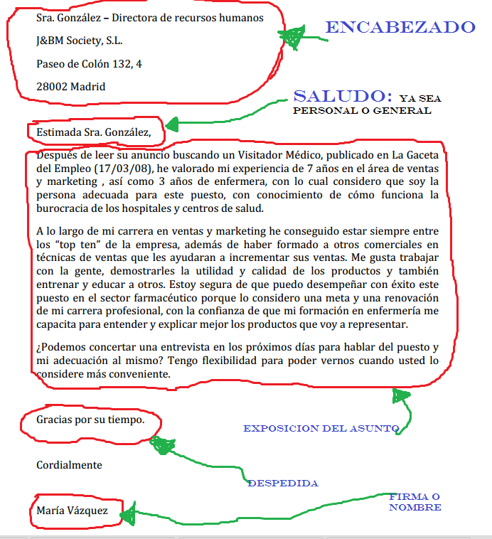 Carta De Presentacion Google Search