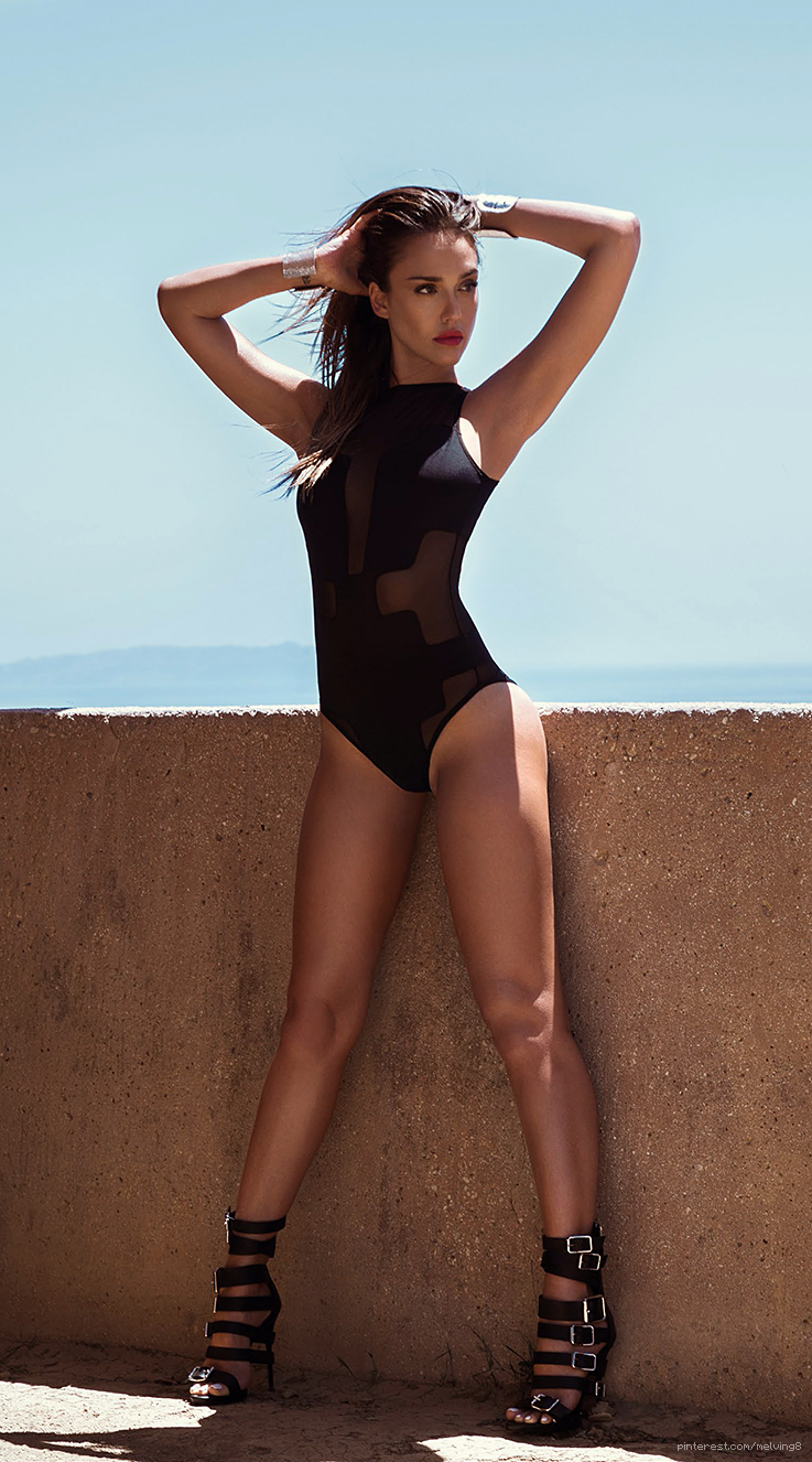 Jessica Alba Smolders In Swimsuits For Gq Uk Cover Shoot -3837