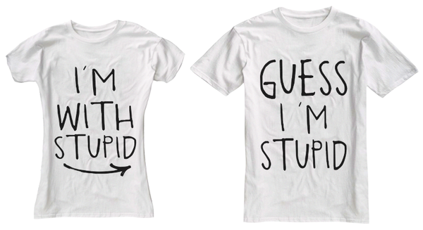 e8789966 I'm With Stupid Couple T-Shirts on the redditgifts Marketplace ...