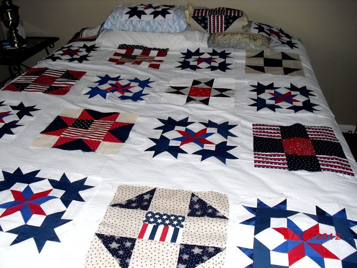 red white and blue quilt | Red White and Blue Quilt
