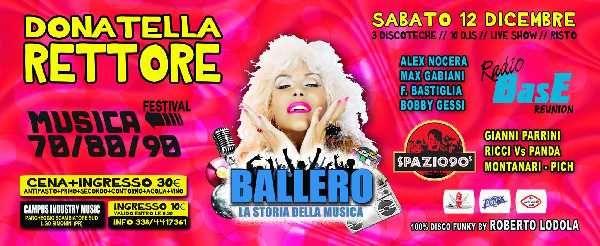 Ballerò festival, live show di Donatella Rettore, musica