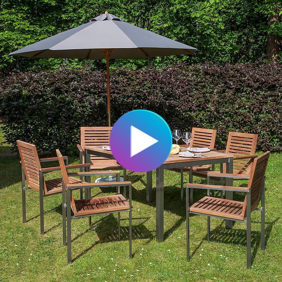 Table A Manger Exclusive Teakline Xiii In 2020 Gartentisch Mit Stuhlen Garten Essgruppe Outdoor Dekorationen