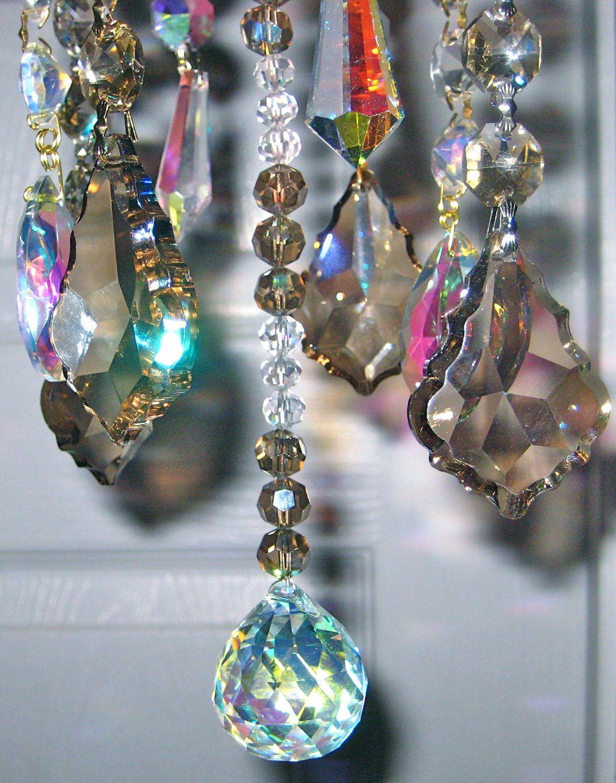 Crystal Prism Wind Chime Indoor Or Outdoor Handmade