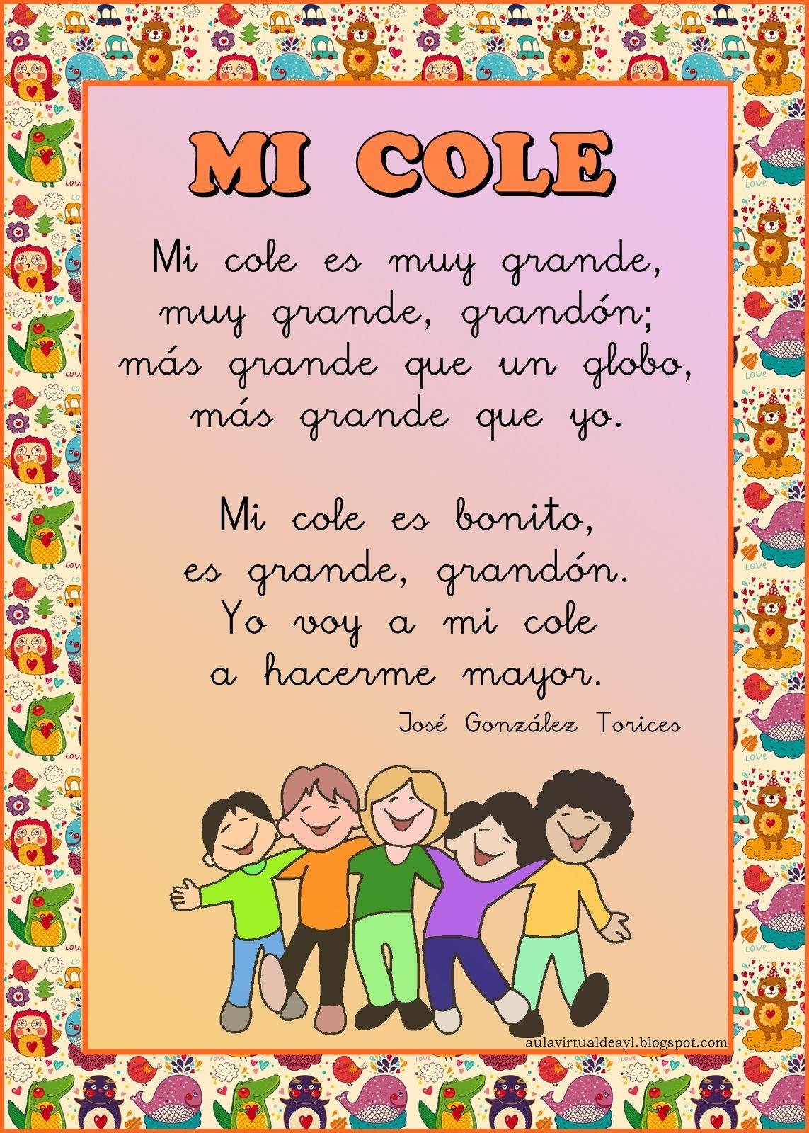 Aula virtual de audici n y lenguaje poemas para la vuelta for Cancion de bienvenida al jardin