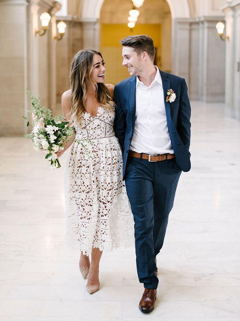 3b53eed0e48280 vestido-de-noiva-renda-midi-casamento-civil-Melanie-Duerkopp-Photography