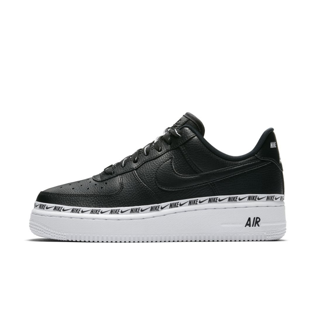 8451299542675 Nike Air Force 1 '07 SE Premium Overbranded Women's Shoe Size 9.5 (Black)