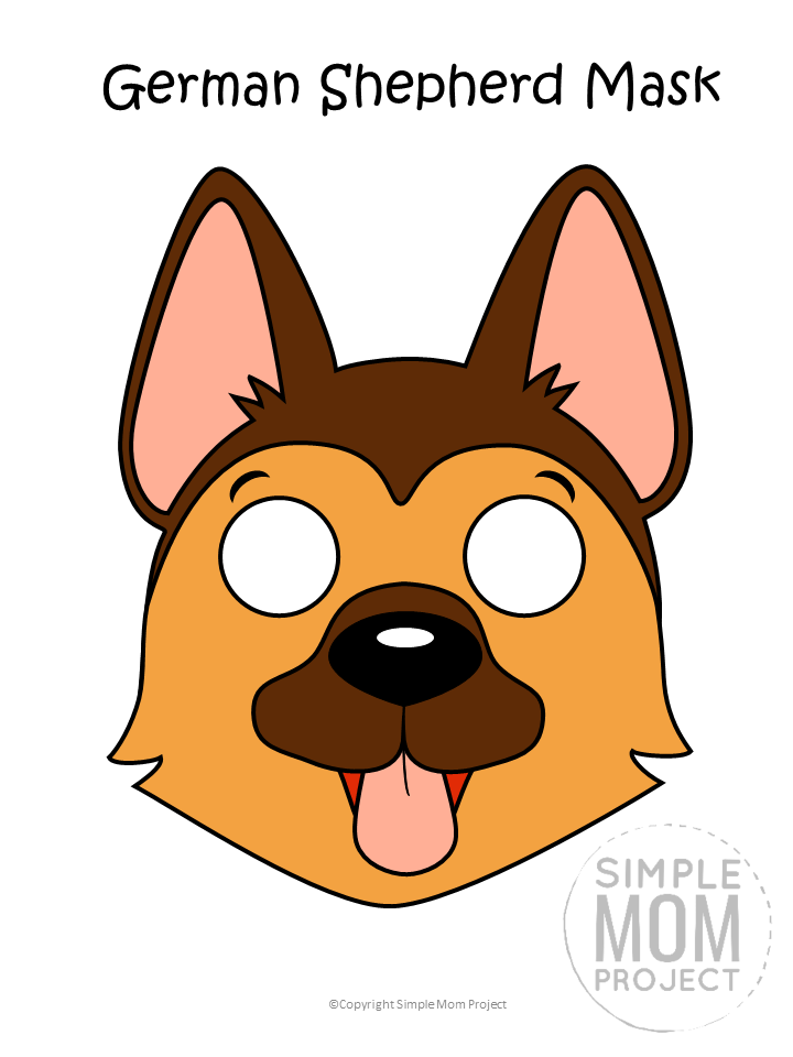 Dog Face Mask Templates Simple Mom Project Dog Template Puppy