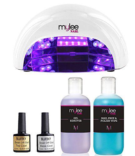 Mylee Led Nail Lamp Top Base Coat Prep Wipe Remover Kit Shellac Gel Polish Shellac Gel Polish Gel Remover Led Nail Lamp