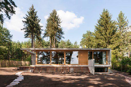 Wochenendhaus am Lübbesee bei Templin - Rauer Sichtbeton in