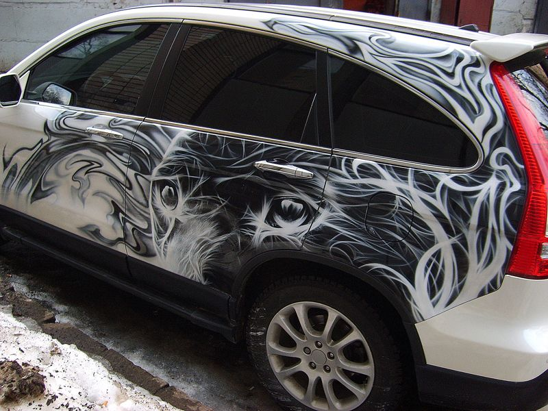 нанесение картинки на автомобиль мой