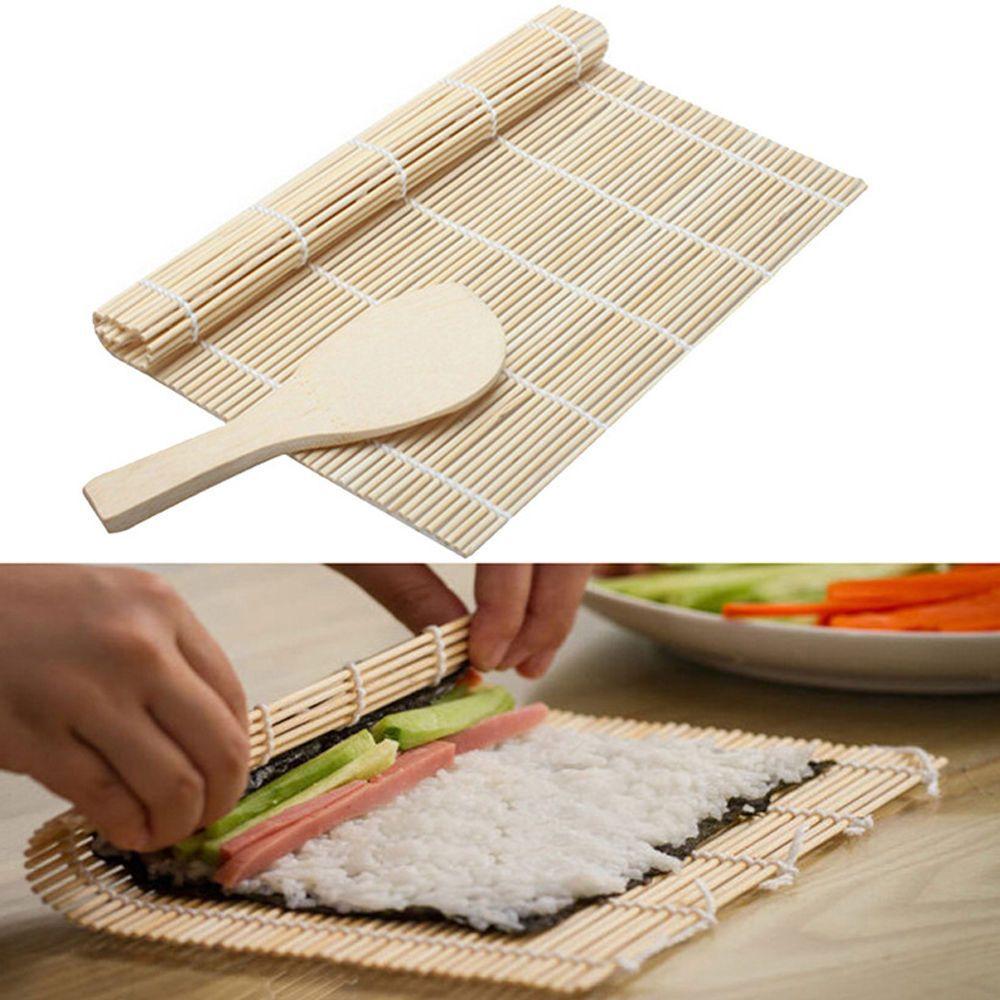Practical 1pcs Bamboo Sushi Rice Mat Maker Makisu Roll Kitchen Hand Rolling Tool Bamboo Sushi Sushi Maker Sushi Mat