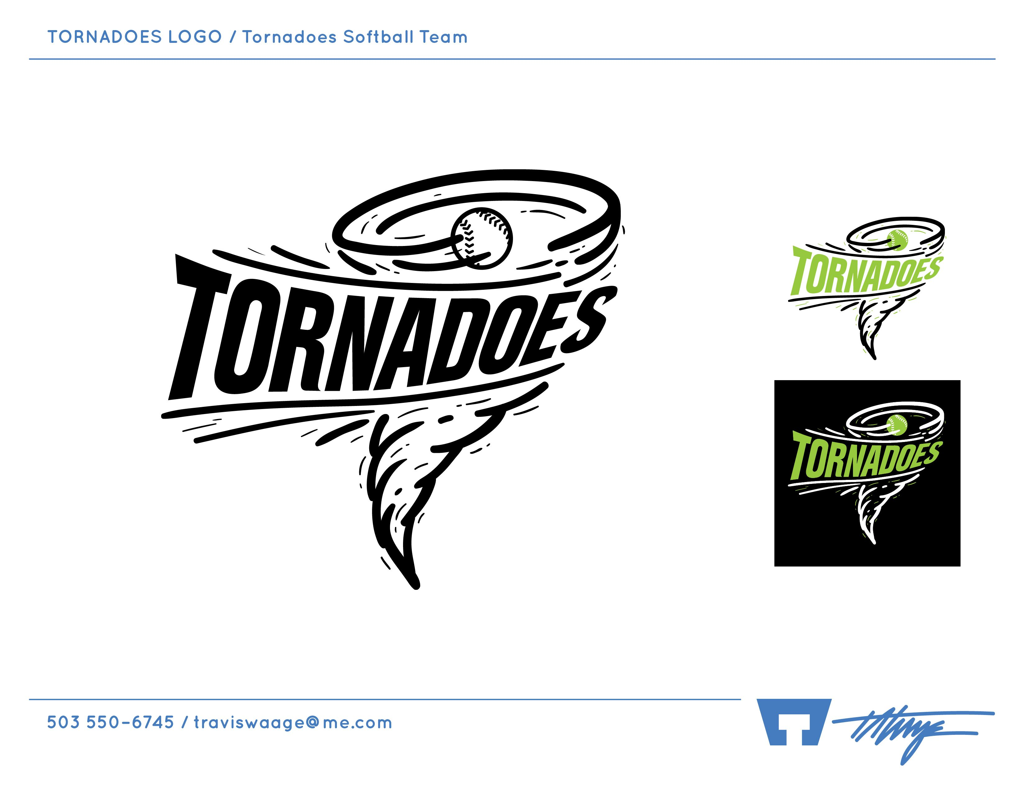 Tornadoes Logo Tornadoes Softball Team Softball Team Softball Sports Logo