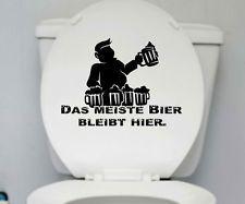 Wandtattoo HINSETZEN Badezimmer WC Toilettendeckel Türaufkleber Klo Sprüche 5n