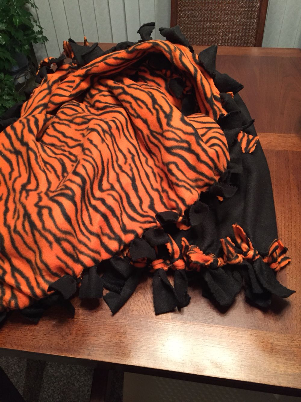 Marshall tiger fleece blanket for shayla for all those bus rides