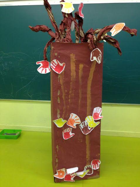 ARBRES DE TARDOR  - Material: Cartró, paper, pintura, tisores, cola Nivell: Infantil P3 2015/16 Escola Pia Balmes