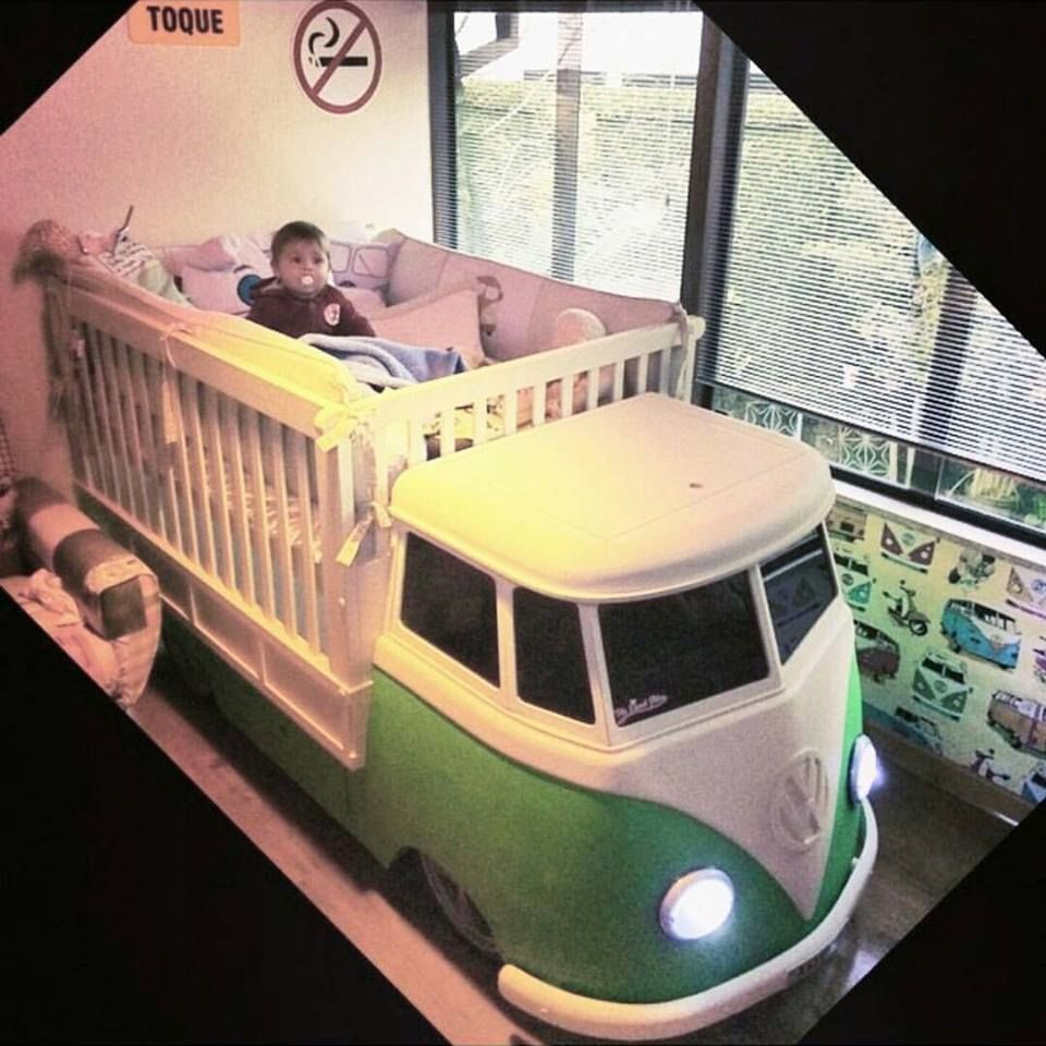 collest crib I ever did I see VW Bus Baby Crib ☮ pinned by ...