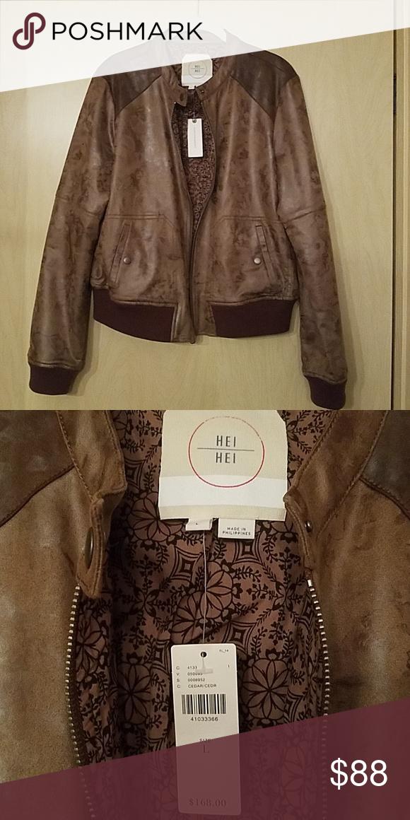 2e31fb81b Hei Hei Faux Leather Jacket Hei Hei faux leather bomber jacket from ...