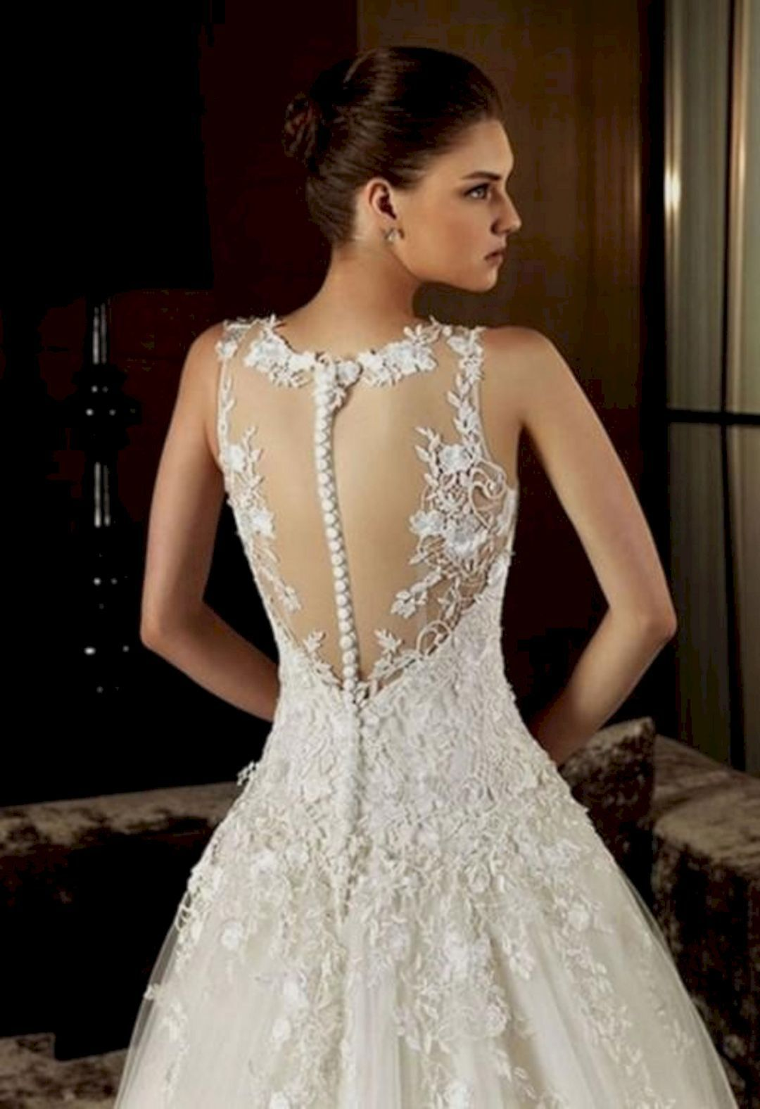 Gloomy best open back lace wedding dress ideas oosile