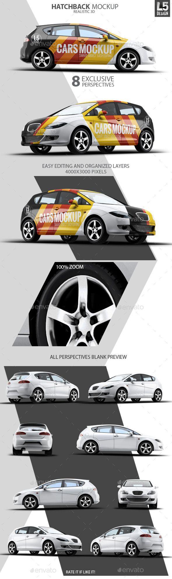 Car sticker design psd - Buy Hatchback Mock Up By On Graphicriver Hatchback Car Mock Up Set Includes 8 Psd Files 8 Realistic Perspectives Fully Layered Resolution