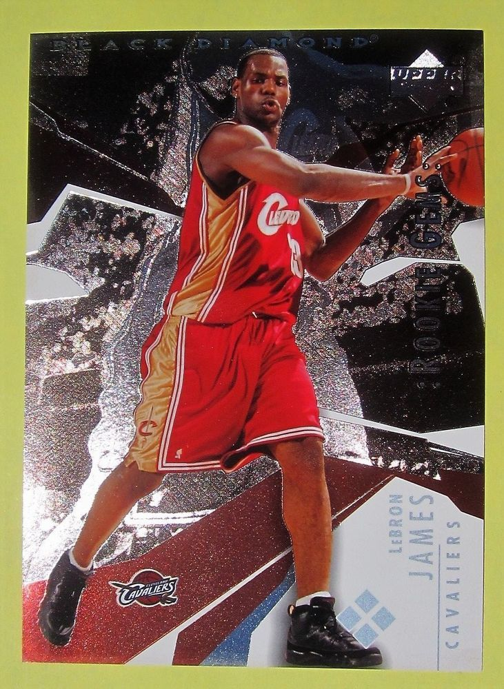 2003 04 lebron james 5x7 basketball card rookie gems upper
