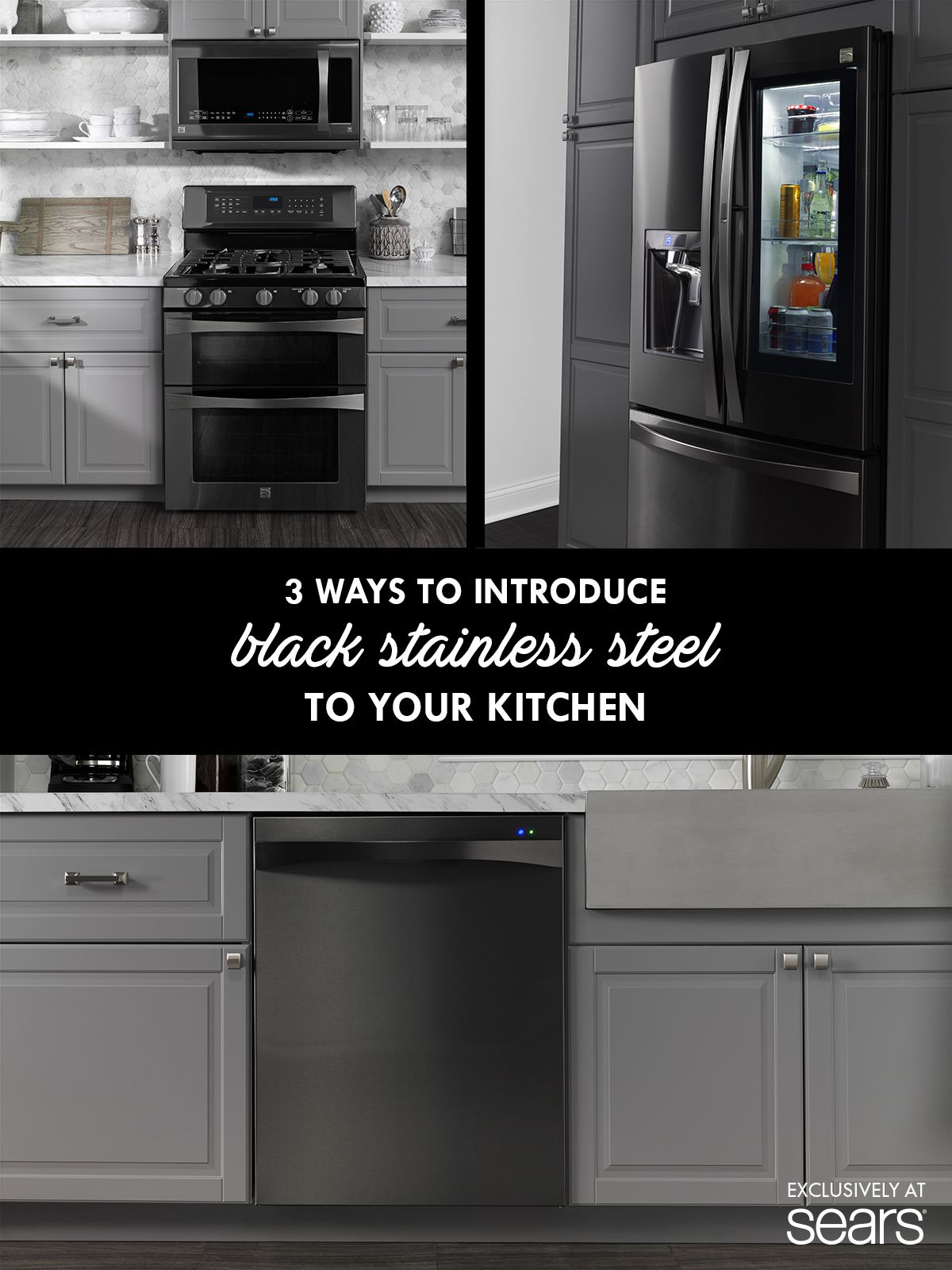 3 Ways To Introduce Black Stainless Steel To Your Kitchen Black Stainless Steel Kitchen Black Stainless Appliances Replacing Kitchen Countertops