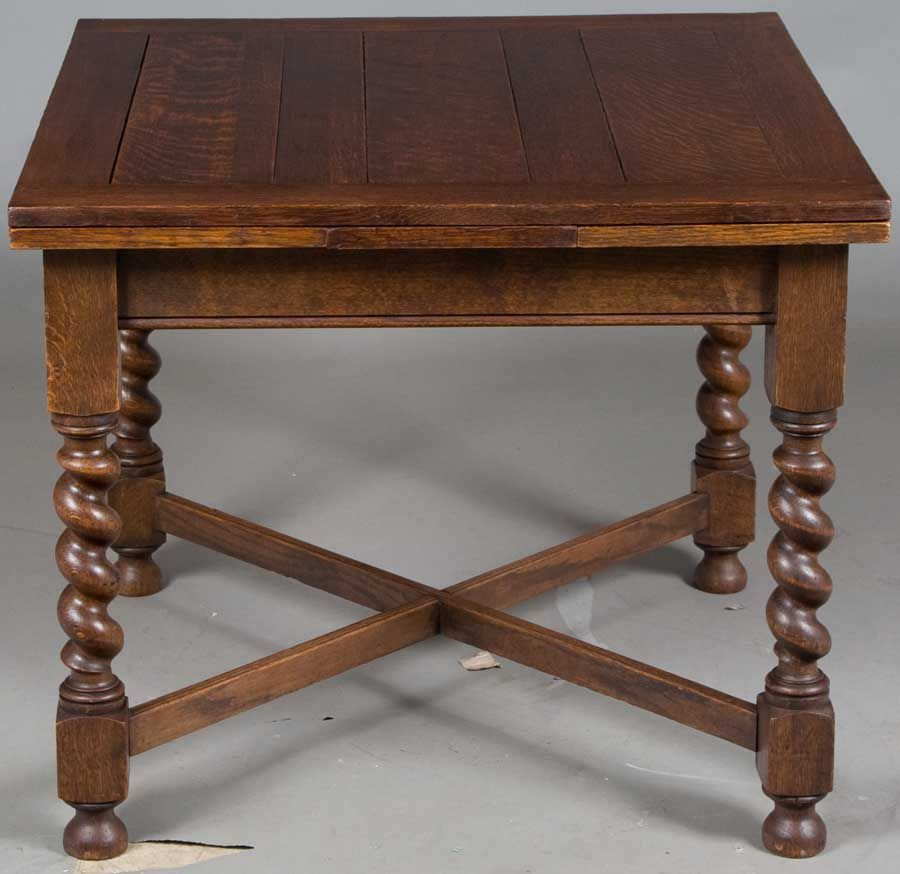 This Beautiful Antique Oak Draw Leaf Pub Table Is English And Made With  Tiger Oak.