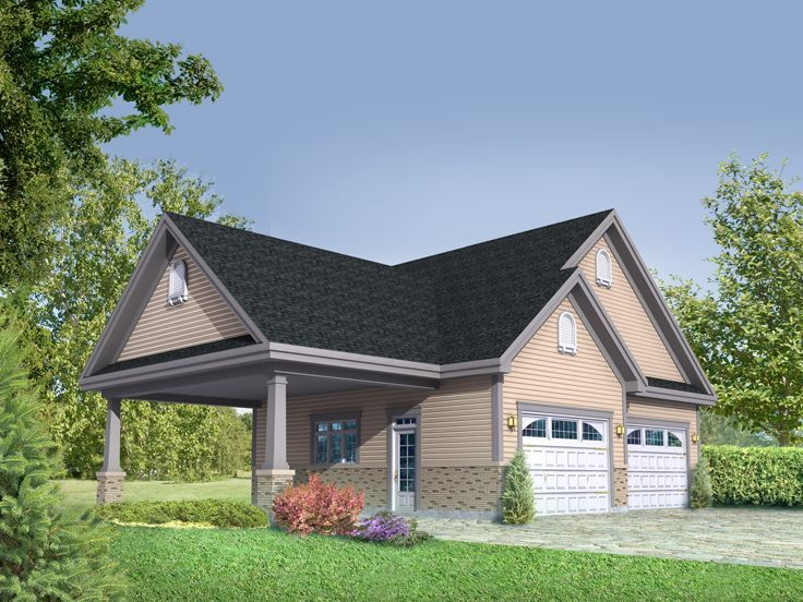 minimum size of two car garage Garage Plans with Carport