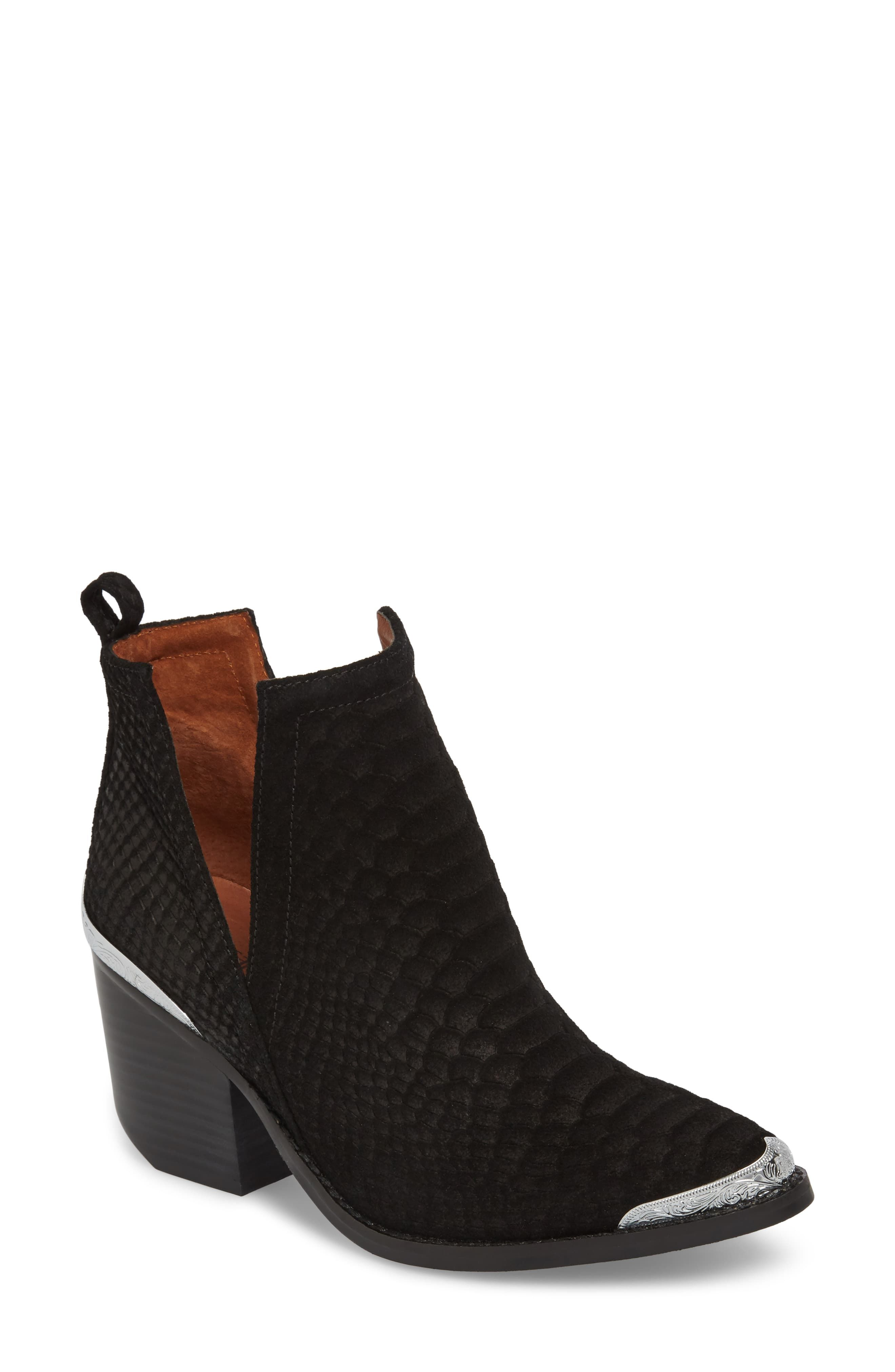 Women's Jeffrey Campbell Cromwell Cutout Western Boot, Size 6.5 M - Black #countryconcertoutfit