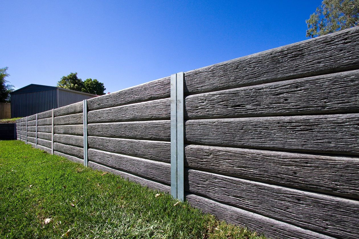 Ridgi Gumtree Concrete Sleepers Will Give Your Yard The Perfect Natural Look V Sleeper Retaining Wall Concrete Retaining Walls Concrete Sleeper Retaining Walls