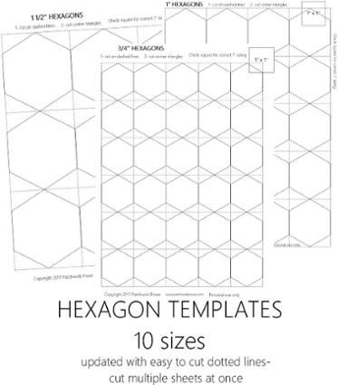 1 1 X2f 2 Quot Hexagon Template Printable Craftsy Paper Piecing English Paper Piecing Iris Folding Pattern