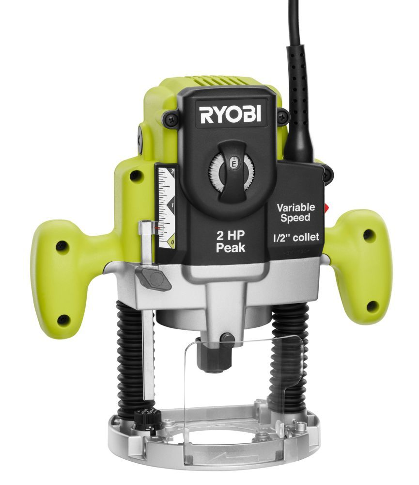 2hp variable speed plunge router toolsthatrule4 pinterest ryobi 2 hp 10 amp plunge base router the home depot canada greentooth Images