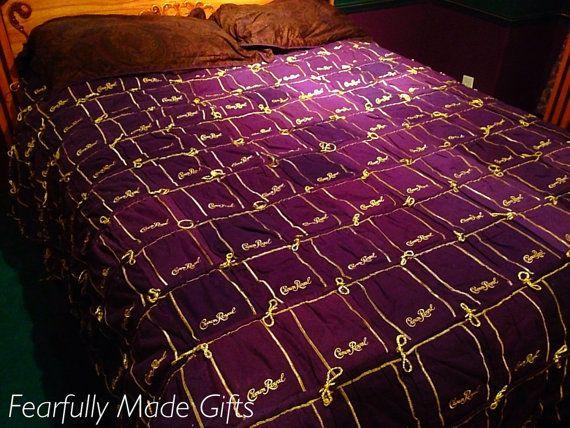 Handmade Crown Royal Bag Quilt Blanket By Fearfullymadegifts Crown Royal Bags Crown Royal Quilt Crown Royal