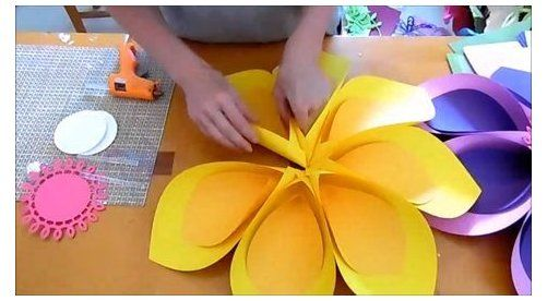 Hawaiian Flowers Paper Flowers Large Paper Flowers Templates & Tutorial SVG Files Tropical Party Moana Bi #paperflowers