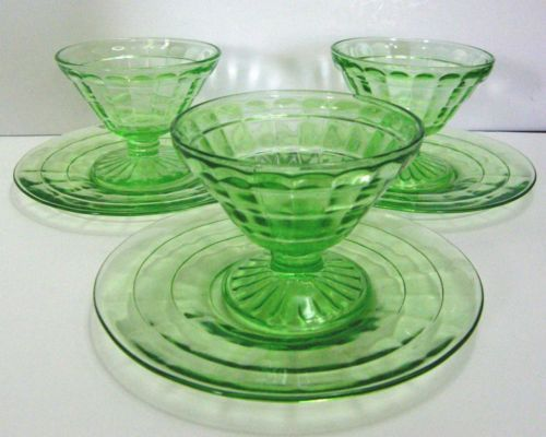 3b25bfe2222e Hocking-Block-Optic-Cone-Sherbet-Sets-footed-non-stem