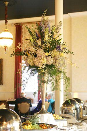 Buffet Table Flower Arrangement Buffet Table Arrangement Buffet Table Decor Table Flower Arrangements