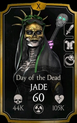 Jade Day Of The Dead Card Jade Mortal Kombat Mortal Kombat Memes Mortal Kombat Cosplay