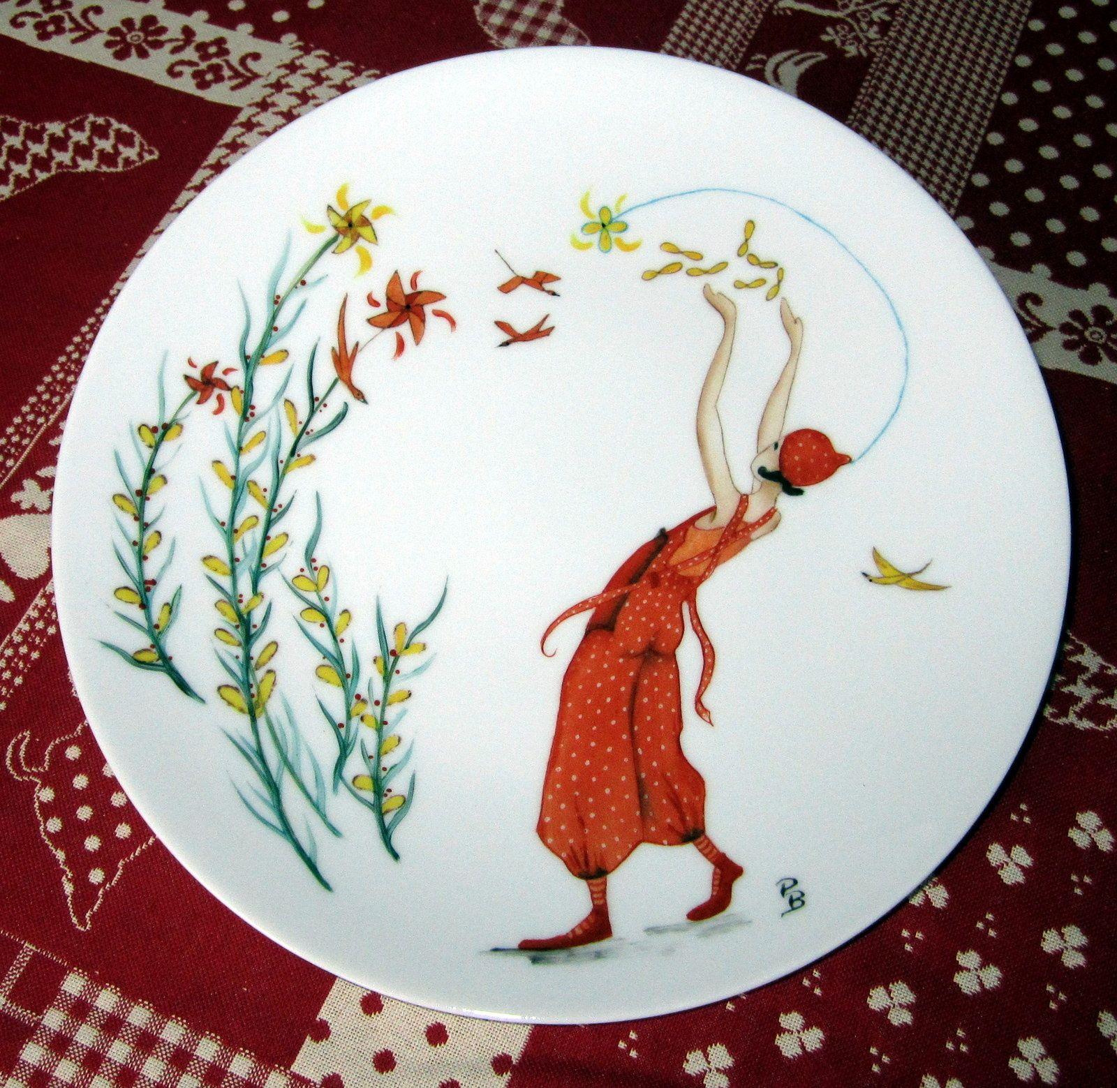 Peinture Sur Porcelaine Assiette je vous souhaite de passer un moment agréable sur mon site