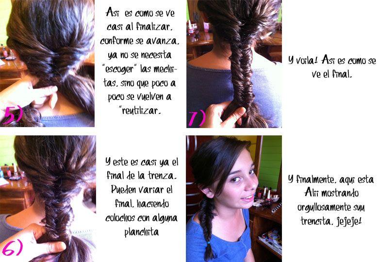 """Ideas para tu cabello: Trenza de """"Pescado""""   Como Yo"""