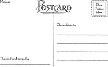 Rubber Stamp Postcard Template For Easy Recycled Postcards