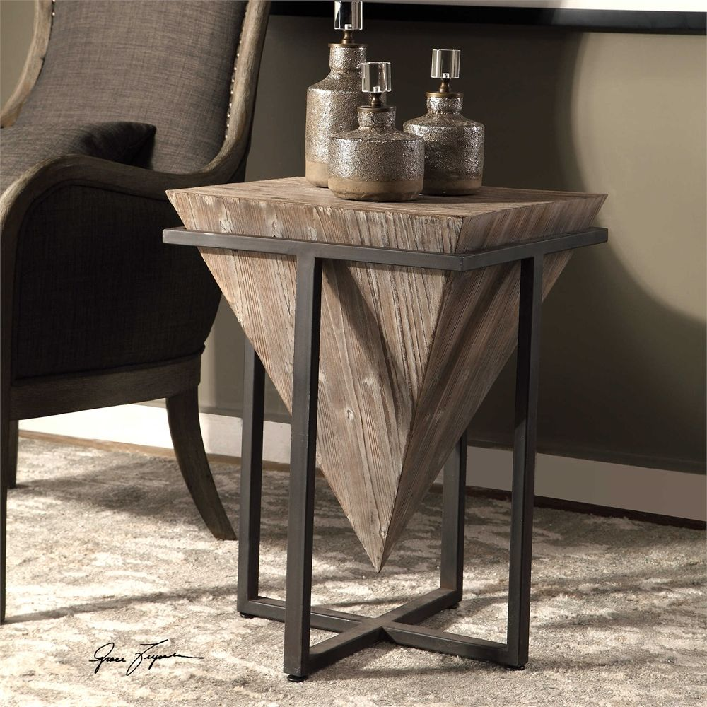 Uttermost Bertrand Wood Accent Table With Images Wood Accent