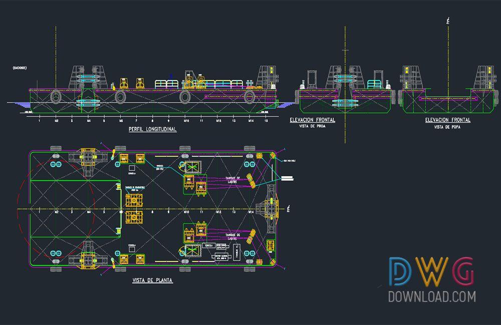 Dwg Download Settlement Of Fishing Boat Dwg Drawings