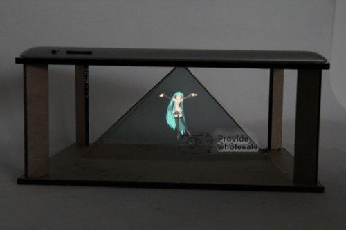 1 pieces $65.00 DIY 3D Holographic Projection Pyramid for ipad 2 ipad 3 NEW ipad Hatsune 3D MV