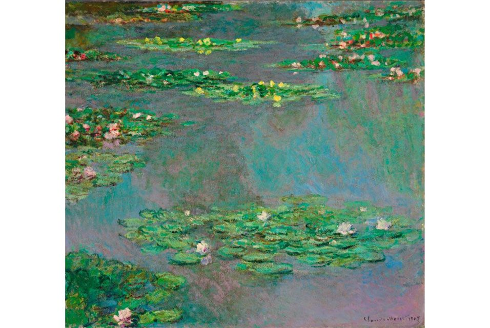 Claude Monet, Nymphéas. Oil on canvas, painted in 1905