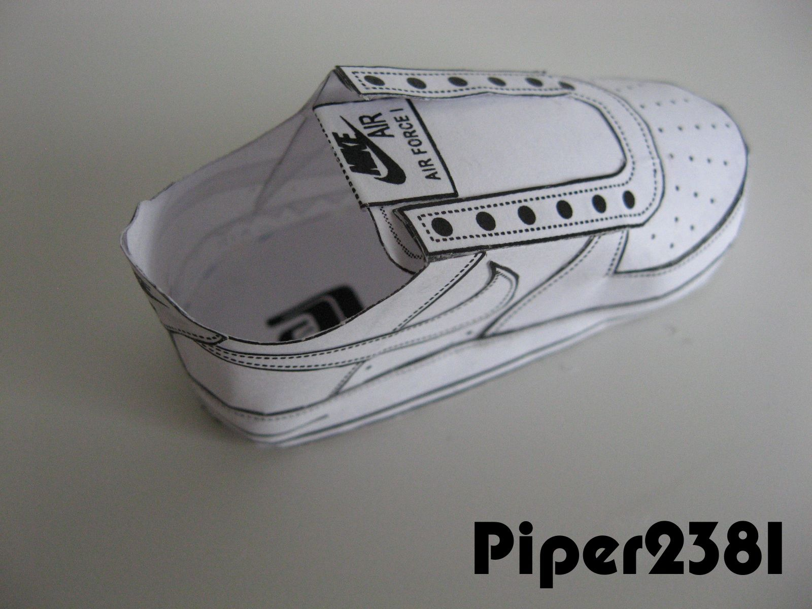 cheap for discount ce905 9d83a youtube papercraft paper shoes   Nike Air Force 1 template